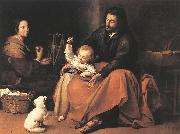 The Holy Family sgh, MURILLO, Bartolome Esteban