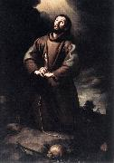 St Francis of Assisi at Prayer sg, MURILLO, Bartolome Esteban