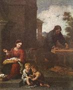Holy Family with the Infant St John dh, MURILLO, Bartolome Esteban