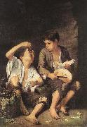 Boys Eating Fruit (Grape and Melon Eaters) sg, MURILLO, Bartolome Esteban
