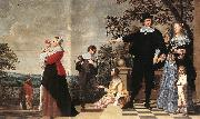 OOST, Jacob van, the Elder Portrait of a Bruges Family a oil painting