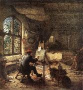 OSTADE, Adriaen Jansz. van The Painter in His Studio sg oil painting reproduction