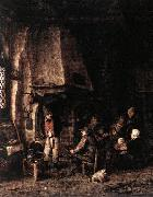 Interior of a Farmhouse with Skaters ag