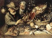PASSEROTTI, Bartolomeo The Fishmonger's Shop agf oil painting artist