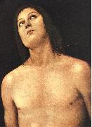 PERUGINO, Pietro Bust of St. Sebastian sg oil painting reproduction