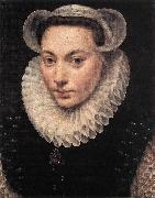 POURBUS, Frans the Elder Portrait of a Young Woman fy oil painting
