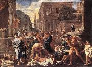 POUSSIN, Nicolas The Plague at Ashdod asg oil painting