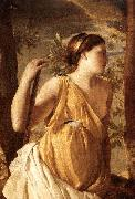 POUSSIN, Nicolas The Inspiration of the Poet (detail) af oil painting