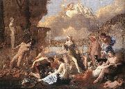 POUSSIN, Nicolas The Empire of Flora af oil painting reproduction