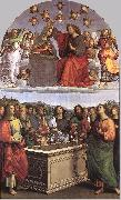 RAFFAELLO Sanzio The Crowning of the Virgin (Oddi altar) oil painting