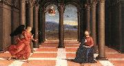 RAFFAELLO Sanzio The Annunciation (Oddi altar, predella) t oil painting