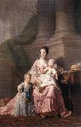 RAMSAY, Allan Queen Charlotte with her Two Children dy oil painting
