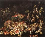 RECCO, Giuseppe Still-Life with Fruit and Flowers oil painting