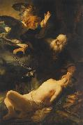 REMBRANDT Harmenszoon van Rijn The Sacrifice of Abraham oil painting reproduction