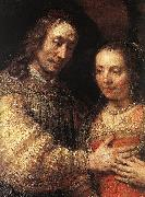 REMBRANDT Harmenszoon van Rijn The Jewish Bride (detail) dy oil painting