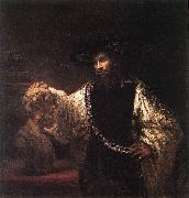 Aristotle with a Bust of Homer  jh, REMBRANDT Harmenszoon van Rijn