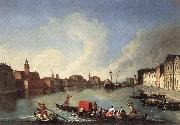 RICHTER, Johan View of the Giudecca Canal oil painting artist