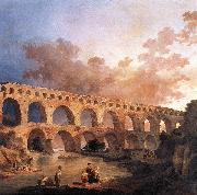 ROBERT, Hubert The Pont du Gard AF oil painting