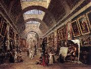 ROBERT, Hubert Design for the Grande Galerie in the Louvre QAF oil painting