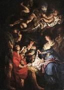RUBENS, Pieter Pauwel Adoration of the Shepherds af oil painting