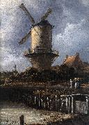 The Windmill at Wijk bij Duurstede (detail) af