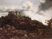 RUISDAEL, Jacob Isaackszon van Bentheim Castle oil painting