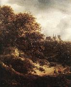 RUISDAEL, Jacob Isaackszon van The Castle at Bentheim d oil painting