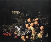 RUOPPOLO, Giovanni Battista Still-life in a Landscape asf oil painting