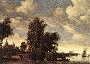 RUYSDAEL, Salomon van The Ferry Boat dh oil painting on canvas