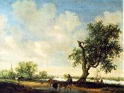 RUYSDAEL, Salomon van Landscape (detail) f oil painting