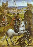 Rogier van der Weyden St. George and Dragon oil painting