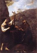 SACCHI, Andrea St Francis Marrying Poverty d oil painting