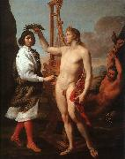 SACCHI, Andrea Marcantonio Pasquilini Crowned by Apollo sg oil painting