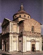 SANGALLO, Giuliano da Exterior of the church f oil painting reproduction