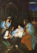 SARACENI, Carlo The Birth of Christ  f oil painting