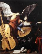 SARACENI, Carlo Saint Cecilia and the Angel sd oil painting on canvas
