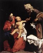 SARACENI, Carlo Madonna and Child with St Anne dt oil painting
