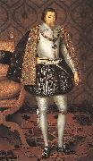 SOMER, Paulus van King James I of England r oil painting