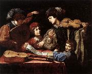 SPADA, Lionello The Concert wtr oil painting
