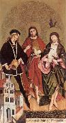 STRIGEL, Hans II Sts Florian, John the Baptist and Sebastian wr oil painting
