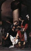 STROZZI, Bernardo St Augustine Washing the Feet of Christ  fg oil painting