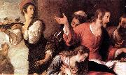 STROZZI, Bernardo Banquet at the House of Simon (detail) er oil painting