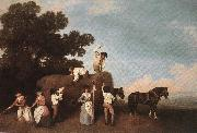 STUBBS, George Haymaking  t oil painting