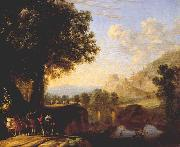 Italian Landscape with Bridge and Castle ar