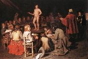 SWEERTS, Michiel The Drawing Class ear oil painting