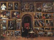 TENIERS, David the Younger Archduke Leopold Wilhelm of Austria in his Gallery fh oil painting artist