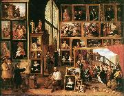 TENIERS, David the Younger The Gallery of Archduke Leopold in Brussels at oil painting artist