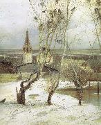 Alexei Savrasov The Rooks Have Returned oil painting on canvas