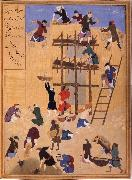 Bihzad Building ot Castle Khawarnaq,wherein the chamber of the seven icons will be hidden oil painting reproduction