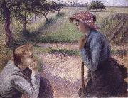 Camille Pissarro The conversation oil painting